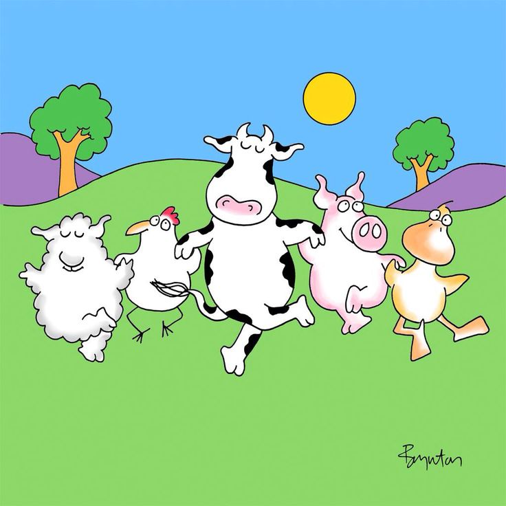 Sandra Boynton: It's National Farm Animals Day. Get out there and frolic!