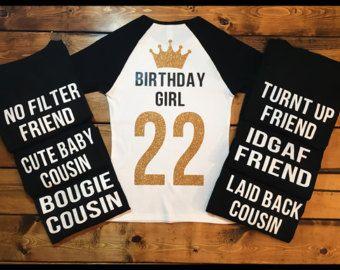 Glitter Birthday Shirts Birthday Girl 21st Birthday
