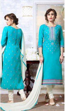 Sky Blue Color Cotton Embroidery Casual Salwar Kameez | FH582385879 Follow us @heenastyle #casualwaer #designersuits #salwarkameez #anarkalis #indiandesigner #desifashion #bollywoodstyle #salwar #chudidar #indianfashion #traditional #beauty #desicouture #pakistani #pakistaniwedding #pakistanibride #southindian #couture #cottonsalwarkameez #embroiderysalwarkameez #straightcutsalwarkameez #churidarkameez #churidarsuits #churidardresses #casualsalwarkameez #casualdresses #casualsuits…