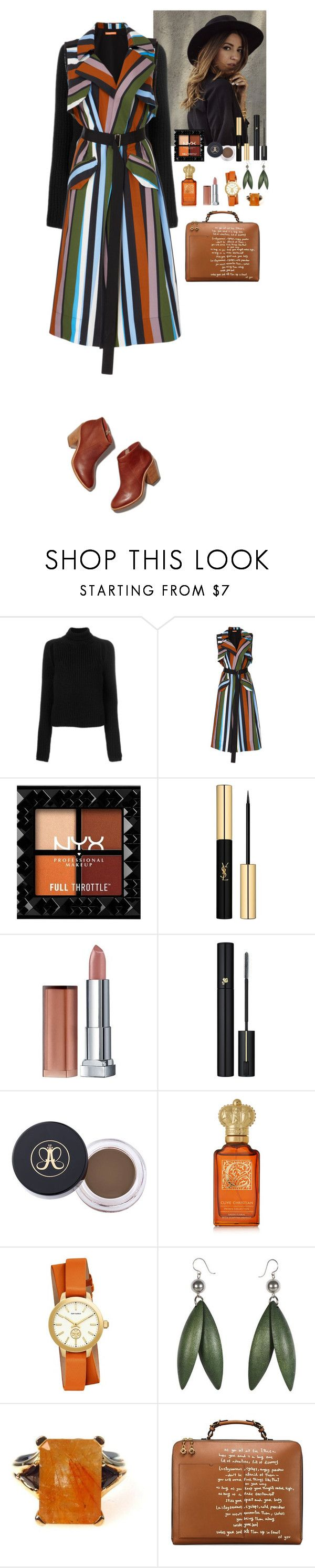 """""""Streetstyle"""" by eliza-redkina on Polyvore featuring мода, Calvin Klein 205W39NYC, Smarteez, Yves Saint Laurent, Maybelline, Lancôme, Clive Christian, Tory Burch, StreetStyle и outfit"""