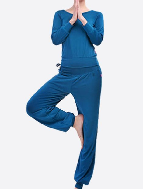 Royal Blue Yoga Suit Manufacturer & Wholesaler In USA & UK