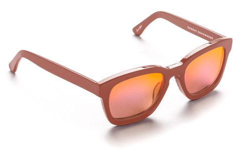 Sunday Somewhere Pastel pink Wayfarer sunglasses, On Trend. CSA. Pink Mirror Lens, Popular Style