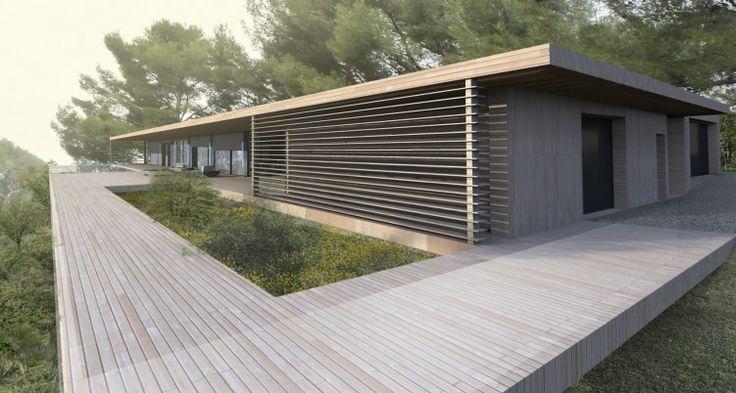 maison-bois-modernejpg (450×260) Maison en bois Pinterest