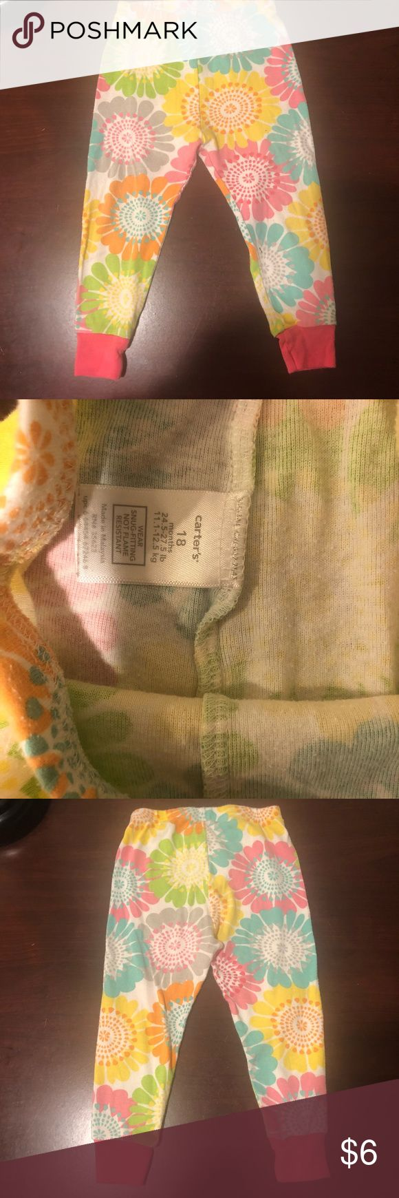 Carters baby girl PJ pant Carters baby girl PJ pant.. there is pilling Carter's Pajamas Pajama Bottoms #babygirlpajamas