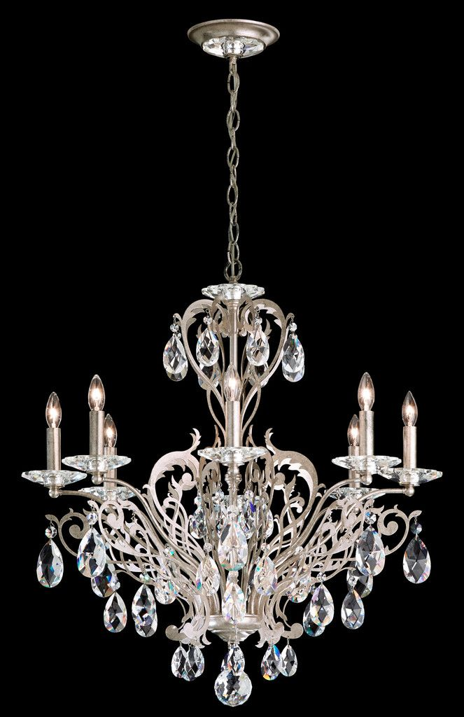 Product Overview for the Schonbek FE7008 Chandelier The Schonbek Filigrae FE7008 is a crystal chandelier available in Antique Silver, Etruscan Gold, French Gold and Heirloom Bronze finish.The crystal