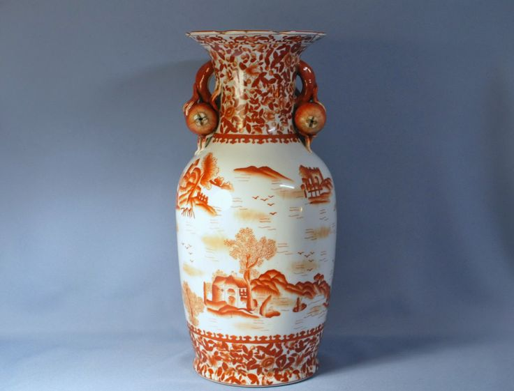 Antique Chinese Red Underglaze Vase By Speer Collectibles 16 Quot Tall Cas Etsy And Vase