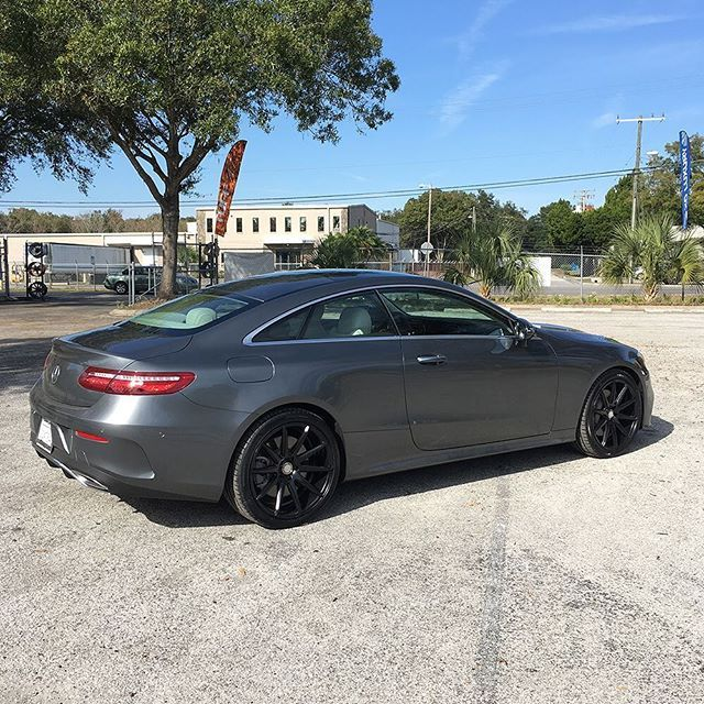 Sydney Matte Black E Class Coupe Xoluxury Xoluxurywheels