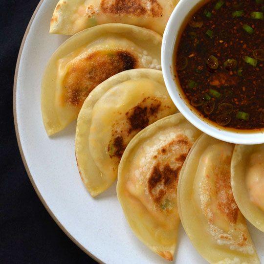 Tofu Kimchi Dumplings