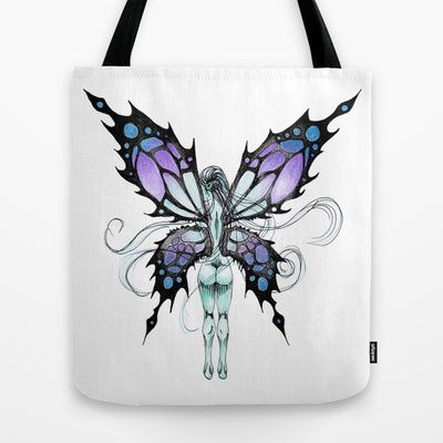Blue+Butterfairy+Tote+Bag+by+ReadThisVA+-+$22.00