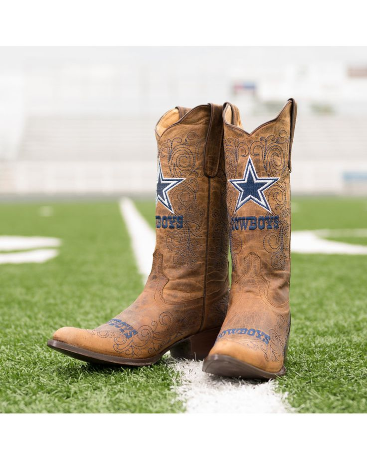 Old Pro Leather Women's Dallas Cowboys NFL Boot