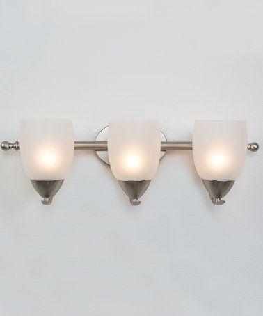 This Brushed Nickel Mirror Lake Three-Light Vanity Light is perfect! #zulilyfinds