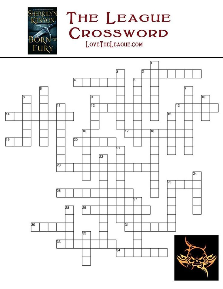 League crossword. The clues are on the next page in this album.