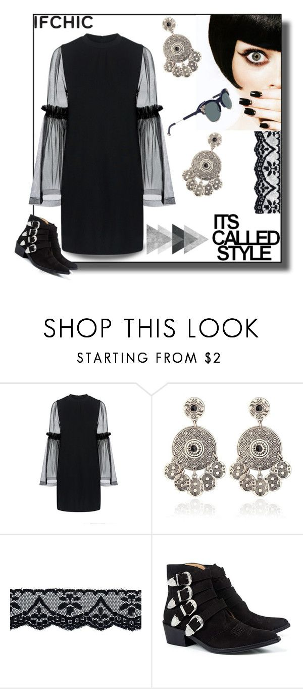 """""""Outfit : Beautiful as you"""" by shikha7710 ❤ liked on Polyvore featuring Mother of Pearl, Toga, Preen, dress, ifchic and springdresscode"""