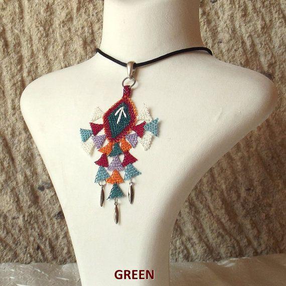 Turkish OYA Lace Silk Necklace Efe 2colors by DaisyCappadocia