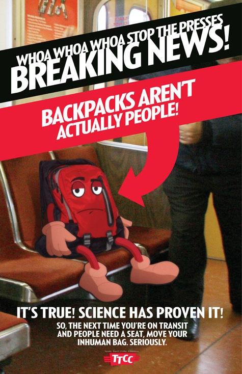 Subway Etiquette Poster by Toronto's National Post via brainpickings #Illustration #Subway_Etiquette #Toronto #National_Post #brainpickings