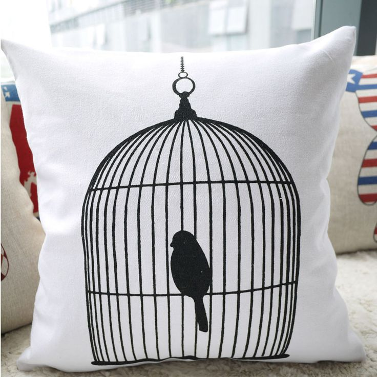 45CM*45CM New Design! L005 ZAKKA Modern Minimalist Cushion Covers Linen Cotton Birdcage Pillow Covers from Reliable linen Cushion Covers suppliers on C+ Fashion Life $12.99