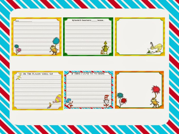 005 Scrap N Teach Dr. Seuss writing papers Dr. Seuss