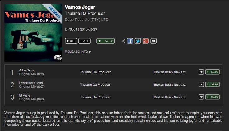 """Check Out My New Release Titled """"Vamos Jogar"""" Its On Promo Via Traxsource   Click On The Link To Get Your Copy  http://www.traxsource.com/title/427475/vamos-jogar"""