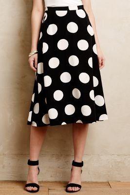 Anthropologie Deco Dot Midi Skirt