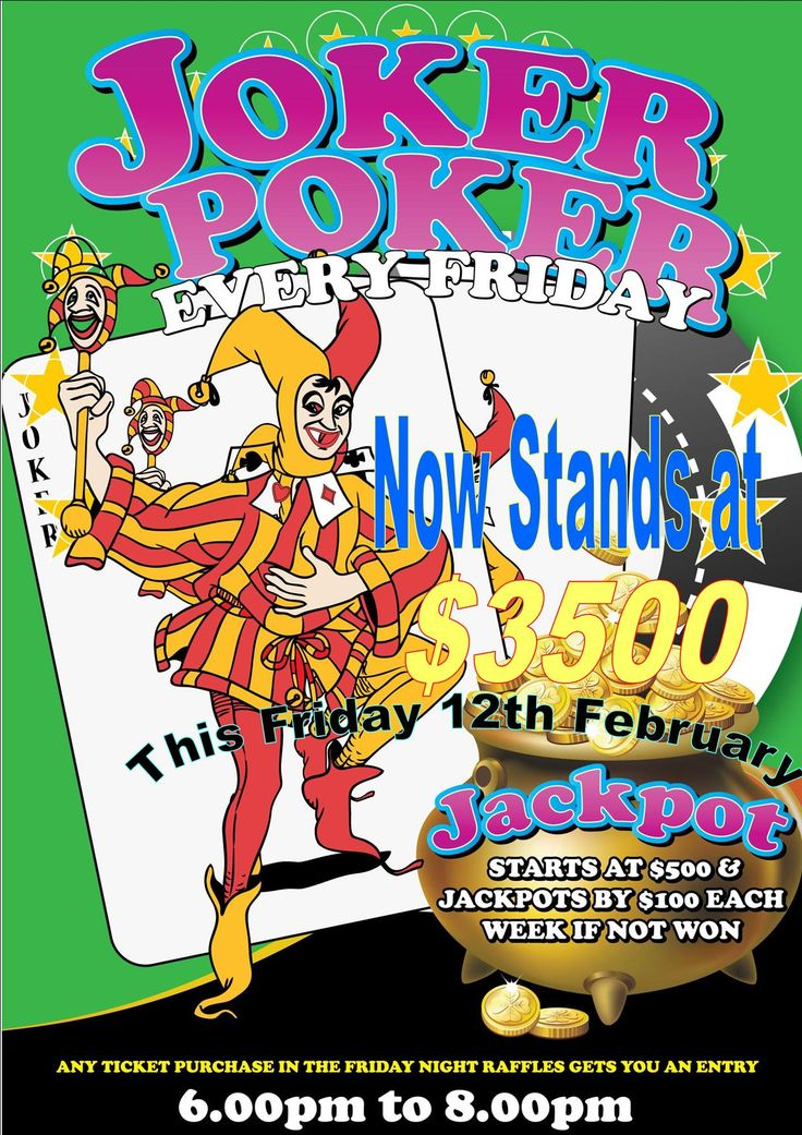 Joker Poker now stands at $3,500 !!!!!!!!!!!!!!!! For you chance to win come down this Friday 12th of February !!! Just buy $10 of raffle tickets for your chance to win !!! Raffle starts at 6pm Live Music from 6:30pm #jokerpoker #jokerpokerSydney #inittowinit #valentines #raffles #FridaynightSydney