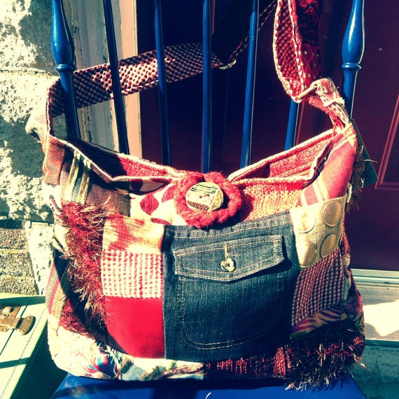 hot chili red diaper/multitasking bag  on Etsy, $125.00 CAD