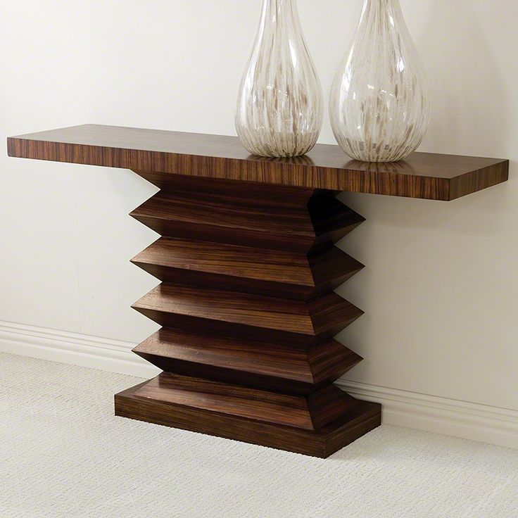 Global Views Zig Zag Console Table   Contemporary   Side Tables And Accent  Tables   Bobby Berk Home