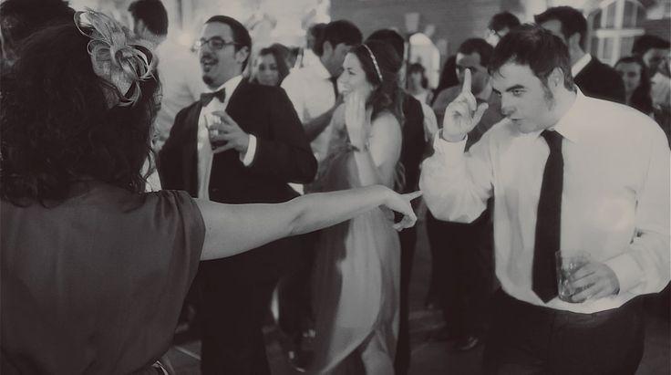 "The DJ was playing ""Pa Panamericano"" at the time, so we thought we'd go old school :) #wedding #weddingvideo #weddingfilm #weddingvideography #destinationwedding #elopment #marriage #bride #groom #weddingreception #retrowedding #papanamericano #politechnikagdanska #lowlightproductions"