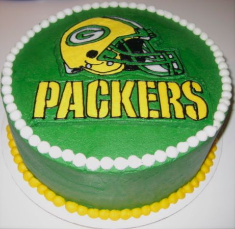Cupcakes with Attitude: Greenbay Packers Cake