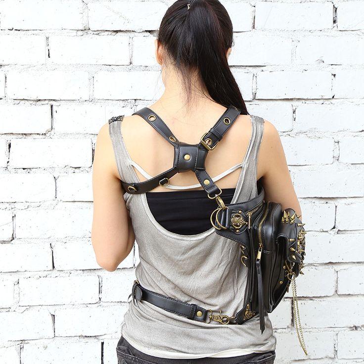 Leather Handbag Steampunk Design