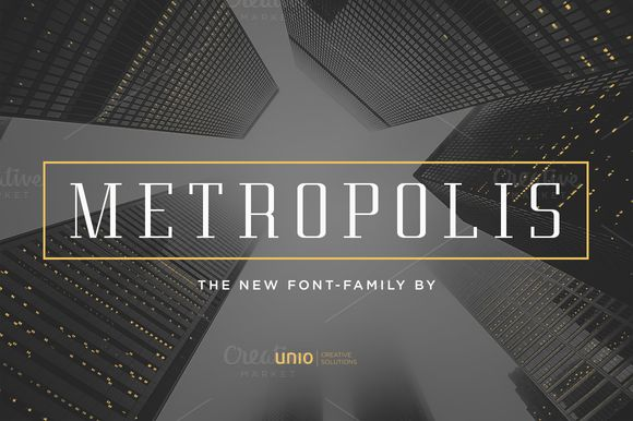 Metropolis - Font Family by Unio | Creative Solutions on Creative Market