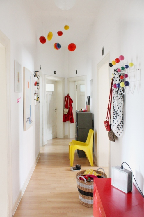 Unser bunter Flur, Tags Garderobe + Lampions + Hang it all