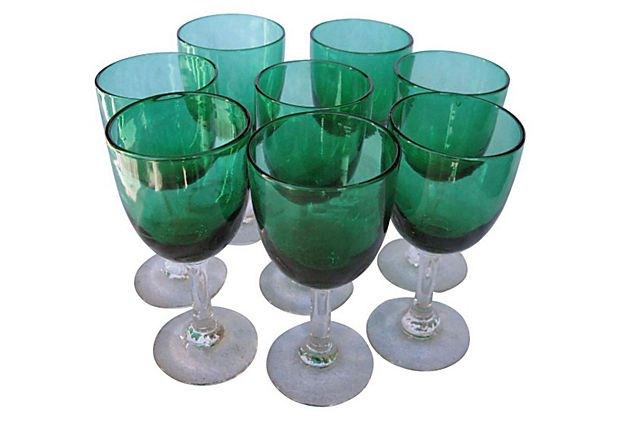 Victorian Wine Glasses, S/8, C. 1870 on OneKingsLane.com