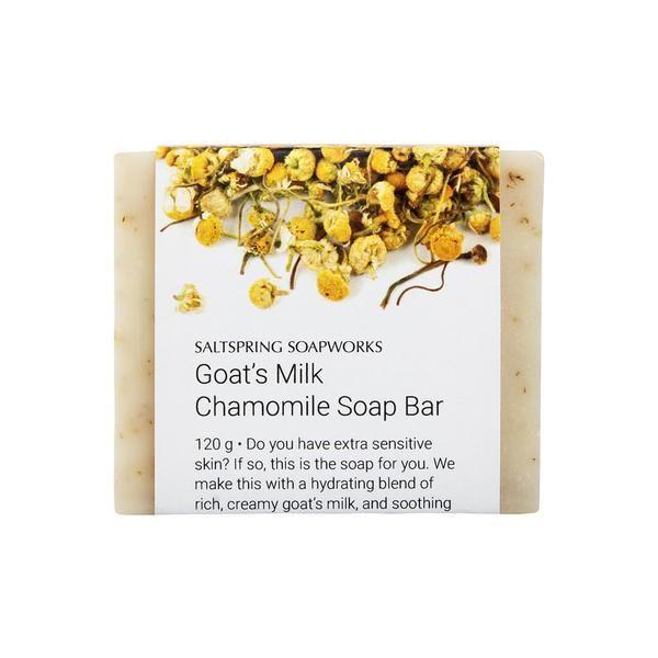 Goat's Milk Chamomile Soap Bar from Saltspring Soapworks