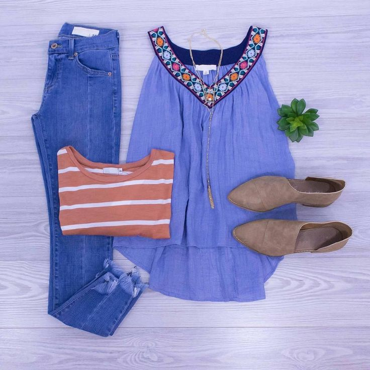 Chasing Summer Sunsets.  Make the best of the rest of your summer in fun outfits like this one! Shop online at www.shopelysian.com New! Hangin' On To Summer Tank in Navy $48. online  in-store.  All Star Necklace $22. in-store only. Seamed Skinny Jean $76. in-store only. My Brunch Tee $32. online  in-store. Fiona Side Cut-Out Slip On in Sand $81. online  in-store. #WearElysianDaily http://ift.tt/2vk5CwH Chasing Summer Sunsets.  Make the best of the rest of your summer in fun outfits like this…