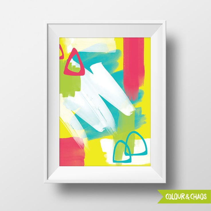 Colourful Mess A5 Print (Multi/Green)