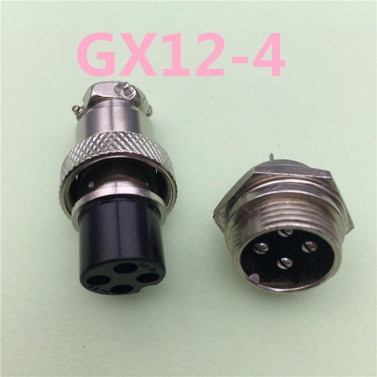 1 قطع لوحة gx12 4 دبوس ذكر و أنثى 12 ملليمتر سلك سد الموصل الطيران L90 GX12 موصل دائري مقبس التوصيل مجانا مجانا