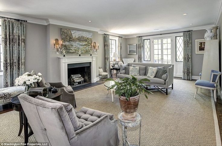 Salon: The bright living room occupies much of the ground floor and has a classic yet more...