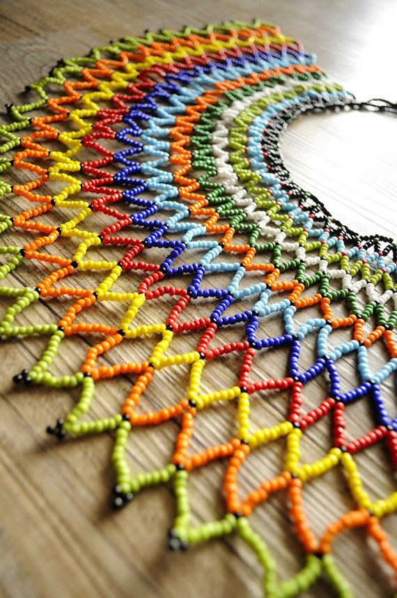 Majestic beaded collar necklaceAfrica by akwaabaAfrica on Etsy