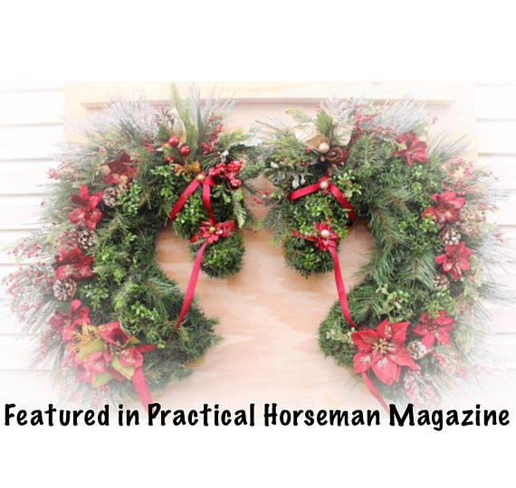 Horse Head Wreaths. Facing horse head wreath. As Featured in