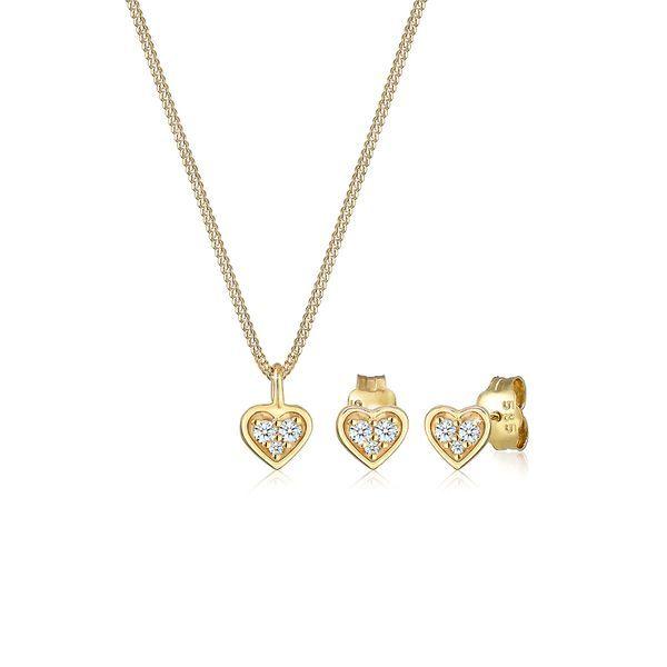 Klassische Eleganz und dezenter Luxus vereinen sich in diesem zeitlos edlen Diamant-Set (0.13 ct.) aus feinstem 585er Gelbgold (14 Karat). Die wunderschöne Herz-Halskette wurde mit viel Liebe zum Detail handfertigt und mit feinen Ohrsteckern kombiniert. Diamanten sind mehr als nur wunderschön funkelnde Edelsteine, sie sind Liebeserklärungen, Geschenke für die Ewigkeit oder ein Zeichen tiefer Bewunderung.  #valentinesday #valentinstag – stylejunkyz