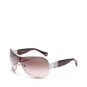 """Coach """"REAGAN"""" sunglasses in purple & silver. Love these."""