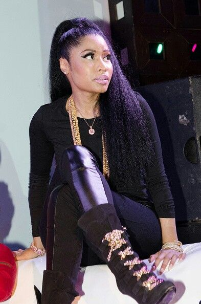 Nicki Minaj swag. All black outfit, those boots