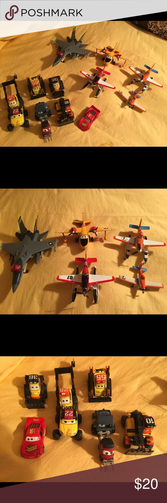 CARS AND PLANES MOVIES CARS AND PLANES DIECAST FIGURES ALL IN EXCELLENT CONDITION!! Disney Other