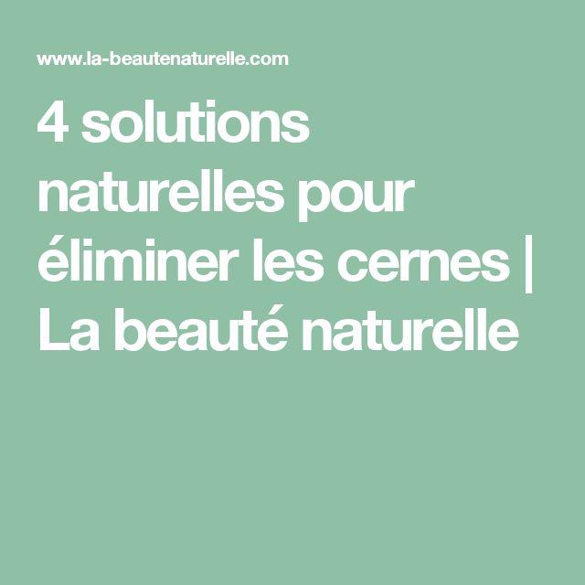 4 solutions naturelles pour éliminer les cernes         |          La beauté naturelle