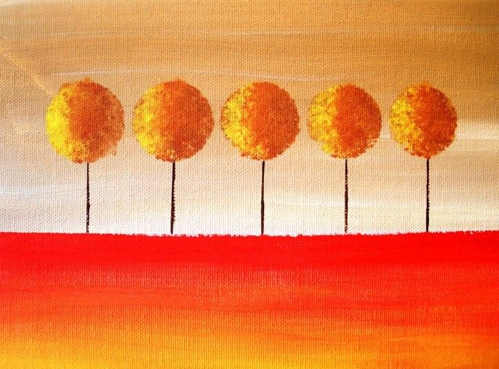 Sunset Trees Art  PRINT 11 X 8.5 Limited Edition by LeeArt on Etsy
