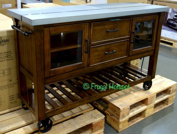 Bayside Furnishings Kitchen Island. #Costco #FrugalHotspot