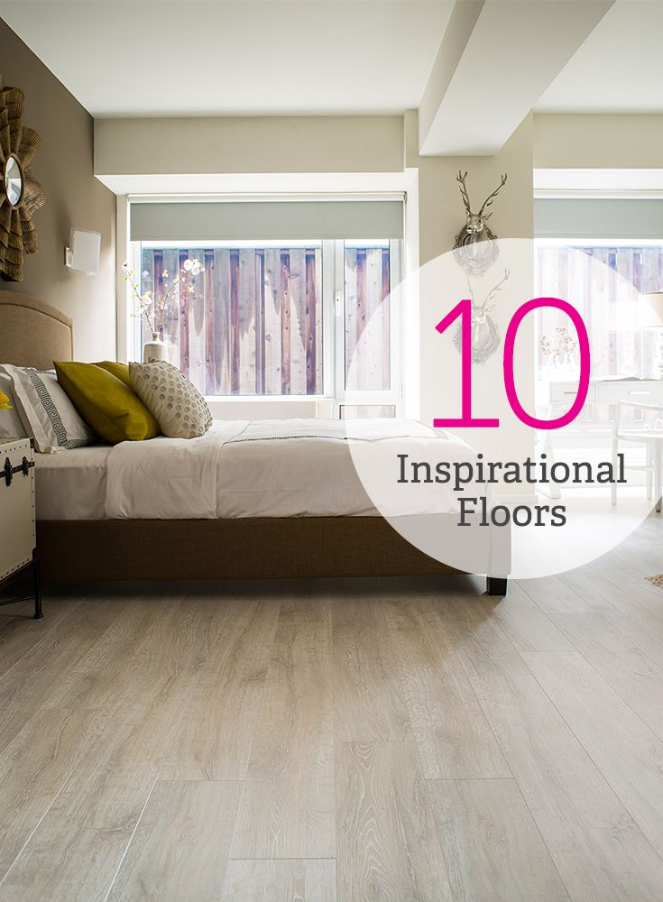 Style from the ground up. 10 inspirational floors you'll love! #laminate #flooring