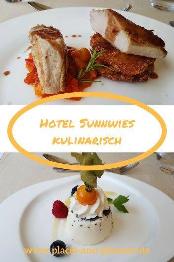 Hier wird der Gast kulinarisch verwöhnt: Hauptgang und Dessert im Hotel Sunnwies in Schenna