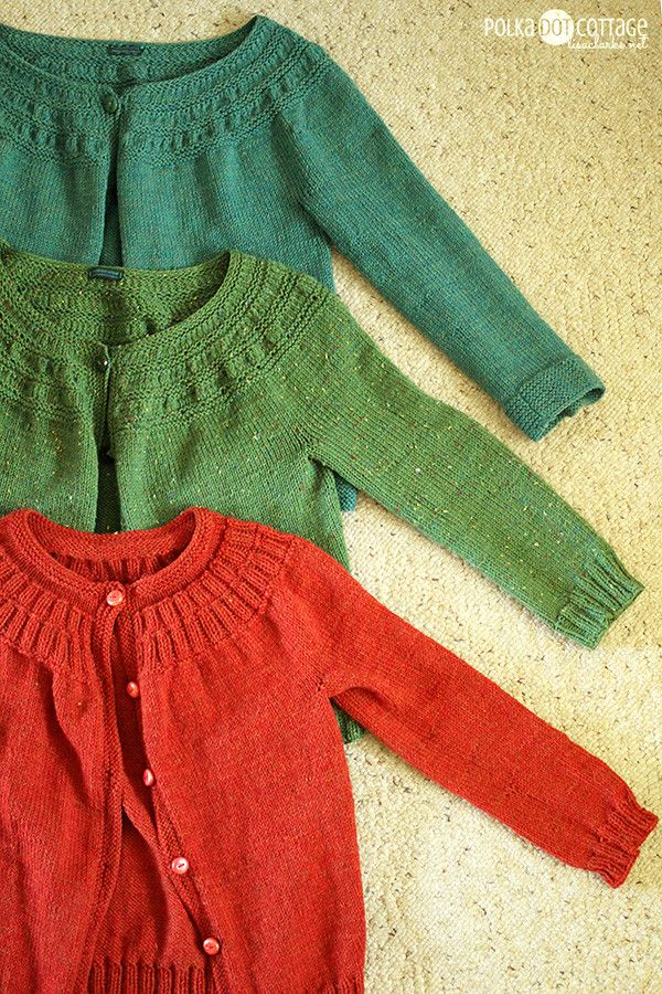 September Sweater 2013-free knitting pattern by Lisa Clarke @ Polka Dot Cottage