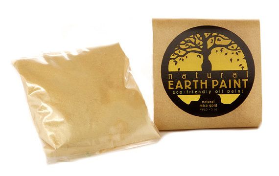 Natural Mica Gold Powder by NaturalEarthPaint on Etsy